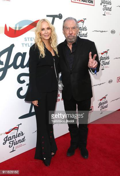 Eloise DeJoria and Paul Mitchell at Steven Tyler and Live Nation presents Inaugural Janie's Fund Gala GRAMMY Viewing Party at Red Studios on January...
