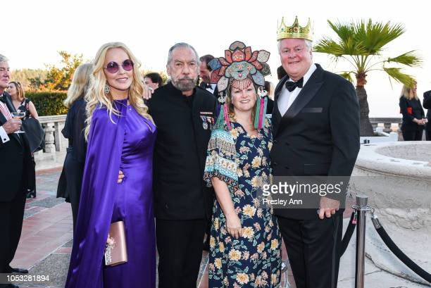 Eloise DeJoria, John Paul DeJoria, Patricia Hearst Shaw and Jamie Figg attend Hearst Castle Preservation Foundation - Hollywood Royalty Dinner at...