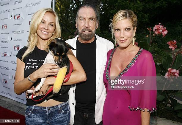 Eloise DeJoria with Marcello John Paul DeJoria and Tori Spelling