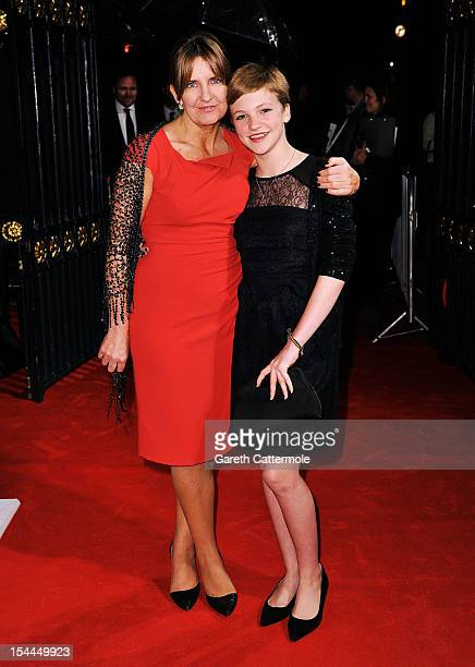 Eloise Laurence and guest attend the 56th BFI London Film Festival Awards at the Banqueting House on October 20 2012 in London England