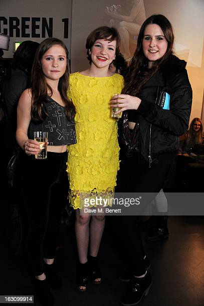 Eloise Laurence and guests attend the UK premiere of 'Broken' at the Hackney Picturehouse on March 4 2013 in London England