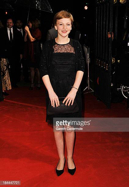 Eloise Laurence attends the 56th BFI London Film Festival Awards at the Banqueting House on October 20 2012 in London England