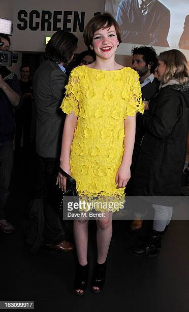 Eloise Laurence attends the UK premiere of 'Broken' at the Hackney Picturehouse on March 4 2013 in London England