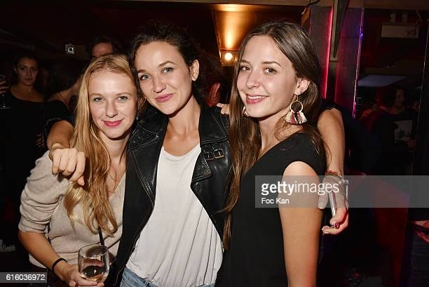 Eloise Monmirel Cynthia Tolleron from Le Rouge et Le Noir and Maelys Gillet attend the Palace Theater Club ReOpening Party on October 20 2016 in...