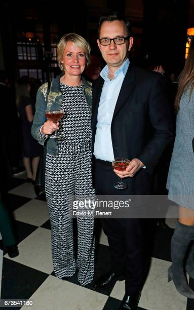 Eloise Patrick and Andy Coulson attend the launch of The Ned London on April 26 2017 in London England