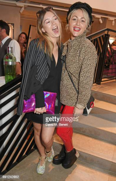Eloise Smyth and Jaime Winstone attend the Perfect Ten Exhibition in association with Tanqueray No TEN at Harvey Nichols on June 1 2017 in London...
