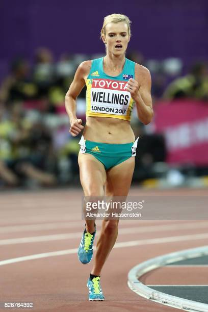 Eloise Wellings of Australia competes in the Women's 10000 metres during day two of the 16th IAAF World Athletics Championships London 2017 at The...