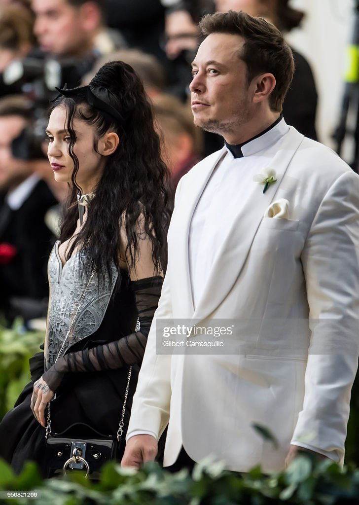 Elon Musk and Grimes are seen arriving to the Heavenly
