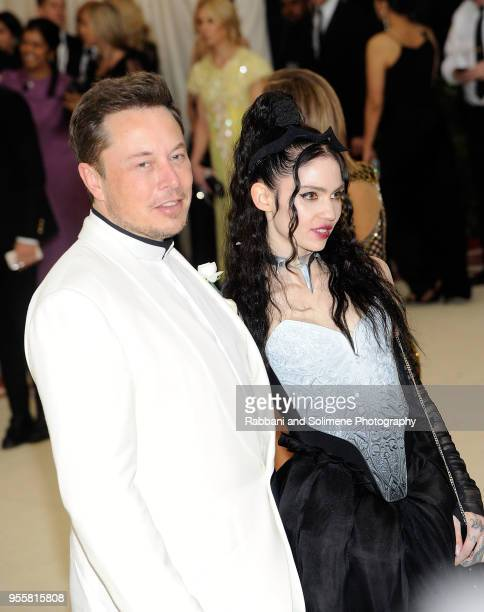 Elon Musk and Grimes attend Heavenly Bodies Fashion The Catholic Imagination Costume Institute Gala a the Metropolitan Museum of Art in New York City