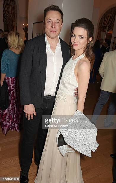 Elon Musk and Talulah Riley attend as Charles Finch hosts his annual Filmmakers Dinner and photographic exhibition in celebration of 'The Art Of...