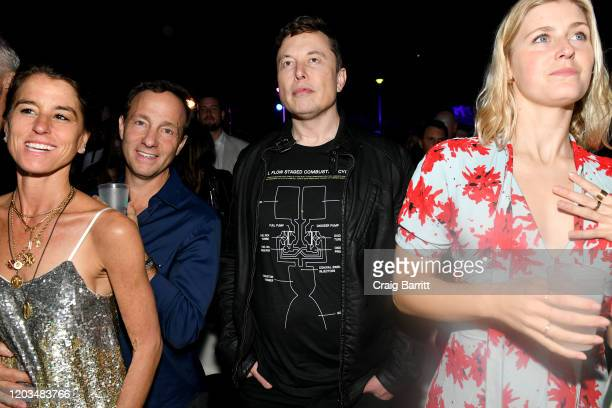 "Elon Musk at Casamigos Presents Sports Illustrated The Party"" at Fontainebleau Hotel on February 01 2020 in Miami Beach Florida"
