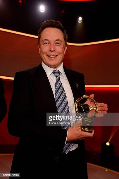 Elon Musk attends 'Goldenes Lenkrad' Award 2014 at Axel Springer Haus on November 11 2014 in Berlin Germany