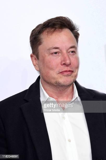 """Elon Musk attends the """"Das Goldene Lenkrad"""" Award at Axel Springer SE on November 12, 2019 in Berlin, Germany."""