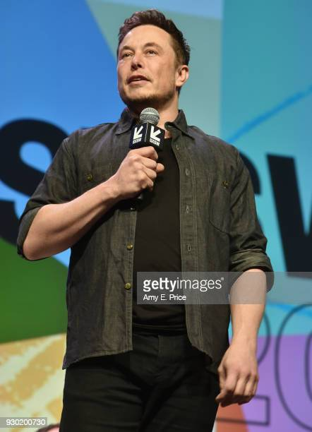 Elon Musk CEO of SpaceX speaks onstage during SXSW at Austin Convention Center on March 10 2018 in Austin Texas
