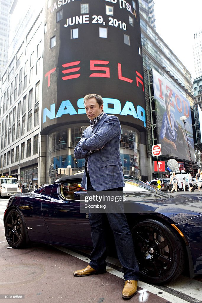 Elon Musk Betting On Tesla IPO To Fund Electric Car Maker : News Photo