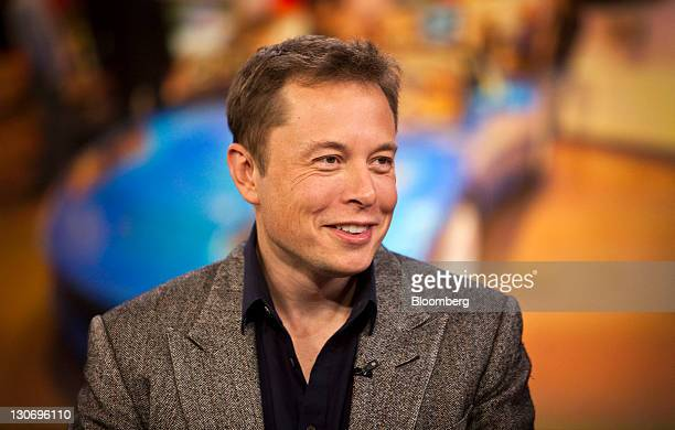Elon Musk chief executive officer of Space Exploration Technologies Corp and Tesla Motors Inc speaks during a Bloomberg via Getty Images Television...