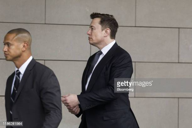 Elon Musk chief executive officer of Tesla Inc arrives at federal court in Los Angeles California US on Tuesday Dec 3 2019 Musk will have to go...