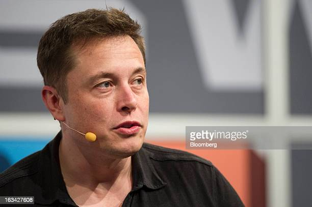 Elon Musk chief executive officer of Tesla Motors Inc and Space Exploration Technologies Inc speaks during an interview at the South by Southwest...