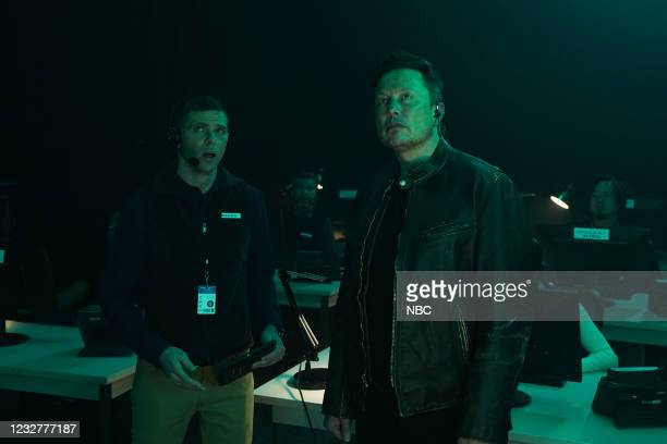 """Elon Musk"""" Episode 1803 -- Pictured: Mikey Day and host Elon Musk during the """"Chad on Mars"""" sketch on Saturday, May 8, 2021 --"""