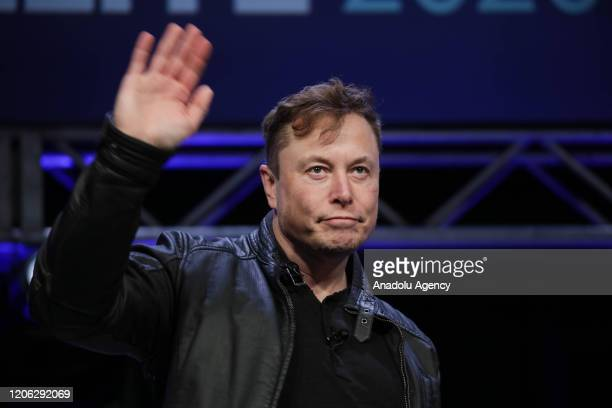 Elon Musk Founder and Chief Engineer of SpaceX attends the Satellite 2020 Conference in Washington DC United States on March 9 2020