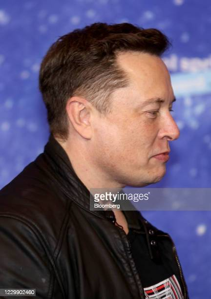 Elon Musk, founder of SpaceX and chief executive officer of Tesla Inc., arrives at the Axel Springer Award ceremony in Berlin, Germany, on Tuesday,...