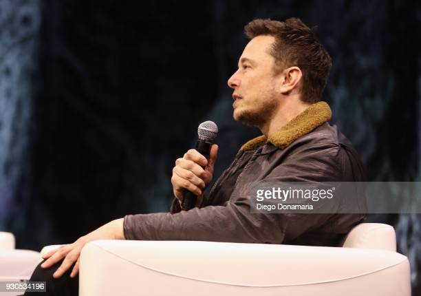 Elon Musk speaks onstage at Elon Musk Answers Your Questions during SXSW at ACL Live on March 11 2018 in Austin Texas