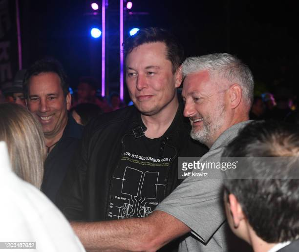 Elon Musk takes a selfie at Sports Illustrated The Party Brought To You By The Undisputed Group And ABG Entertainment With DaBaby Black Eyed Peas And...