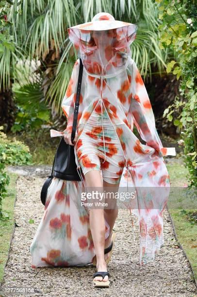 Eléonore Ghiuritan walks the runway during the Kenzo Womenswear Spring/Summer 2021 show as part of Paris Fashion Week on September 30, 2020 in Paris,...