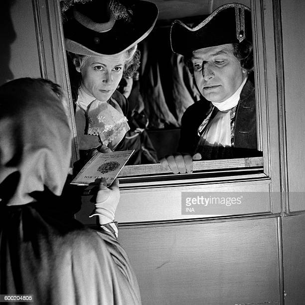Eléonore Hirt and Robert Lombard in a scene of The Night of Varennes fiction realized by Stellio Lorenzi for the series The camera explores the time