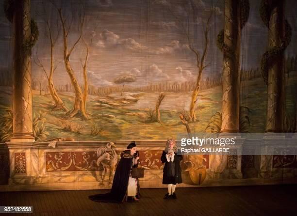 Eléonore Pancrazi et Christian Hecq interprètent 'La Fée Urgèle' sur scène lors d'un gala à l'Opéra Comique pour célébrer son 300e anniversaire le 12...