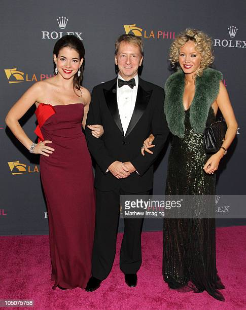 Eloísa Maturén Chairman of the LA Philharmonic Association David Bohnett and Julia Trappe arrive at the Los Angeles Philharmonic Opening Night Gala...
