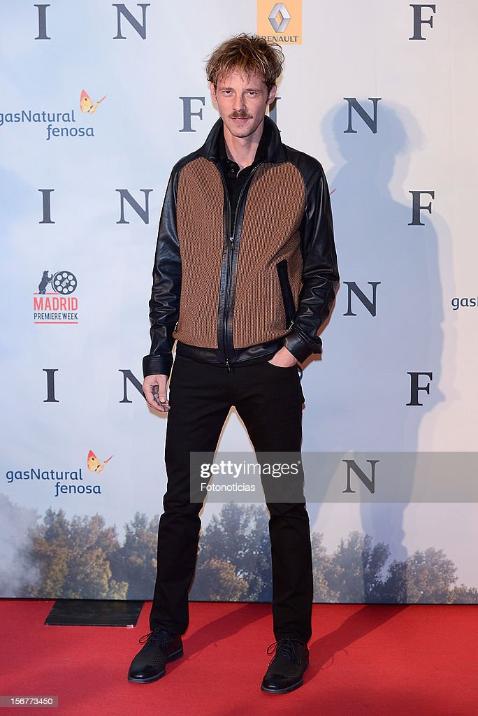 Eloy Azorin attends the premiere of 'Fin' at Callao Cinema on November 20, 2012 in Madrid, Spain.