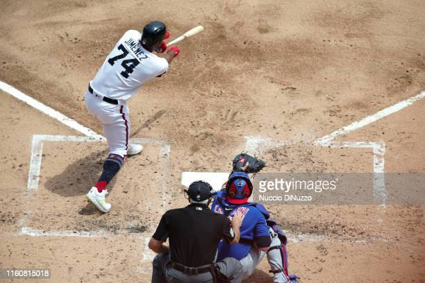 Eloy Jimenez of the Chicago White Sox at bat during the second inning against the Chicago Cubs at Guaranteed Rate Field on July 07 2019 in Chicago...
