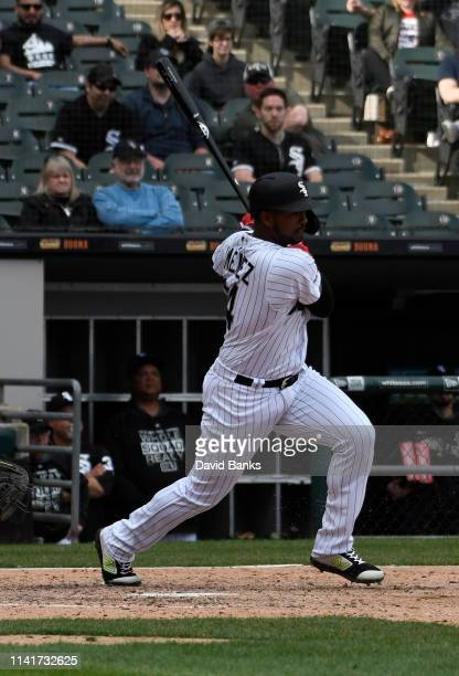 Eloy Jimenez of the Chicago White Sox at Guaranteed Rate Field on April 09 2019 in Chicago Illinois