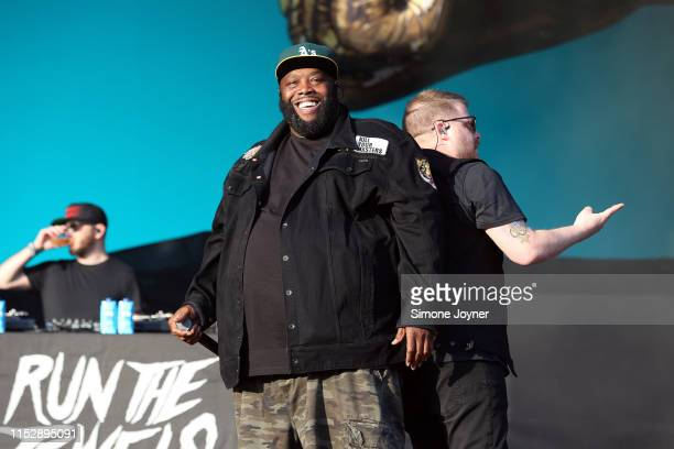 ElP and Killer Mike of Run the Jewels perform live on stage during the All Points East Festival at Victoria Park on May 31 2019 in London England