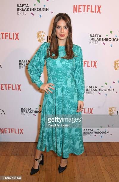 Elpida Stathatou attends the BAFTA Breakthrough Brits celebration event in partnership with Netflix at Banqueting House on November 7 2019 in London...