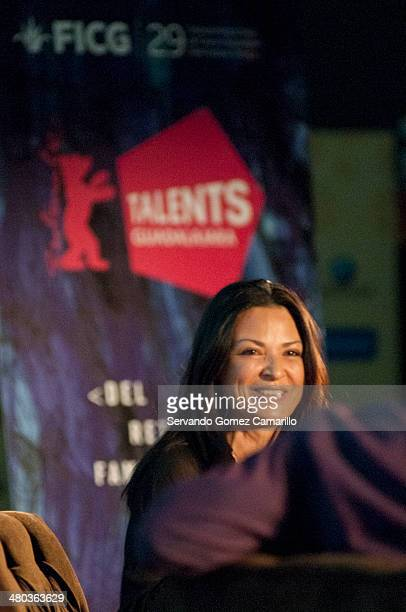 Elpidia Carrillo during a Master Class conference within 'Talent Campus' as part of day four of Guadalajara International Film Festival festival on...