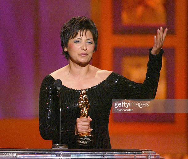 Elpidia Carrillo tied for Outstanding Supporting Actress in a Motion Picture at The 2002 ALMA Awards at the Shrine Auditorium in Los Angeles Ca...