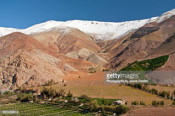 Elqui Valley with snow, Chile