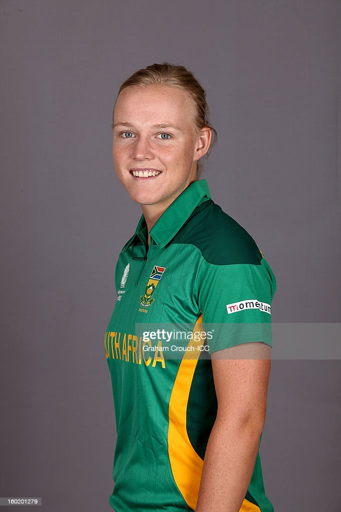 Elriesa Thelinissen of South Africa poses at a portrait session ahead of the ICC Womens World Cup 2013 at the Taj Mahal Palace Hotel on January 27, 2013 in Mumbai, India.