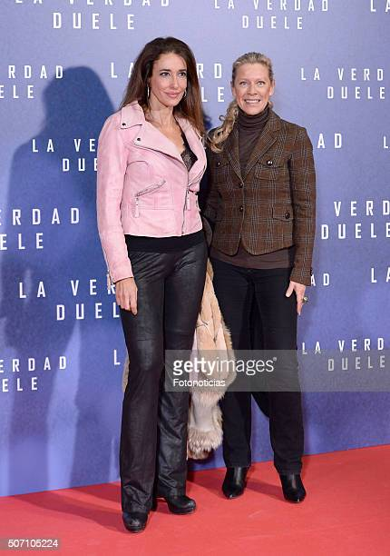 Elsa Anka and Concha Galan attend the 'Concussion' Premiere at Callao Cinema on January 27 2016 in Madrid Spain