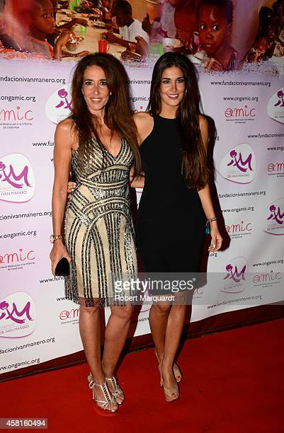 Elsa Anka and Lidia Torrent during a photocall for the 'Ivan Manero Foundation' charity dinner on October 30 2014 in Barcelona Spain