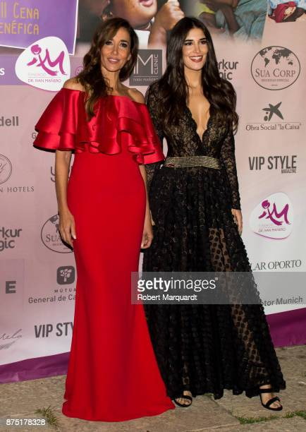 Elsa Anka and Lydia Torrent pose during a photocall for the 'Apuesta Por Ellas' charity event on November 16 2017 in Sant Cugat del Valles Spain