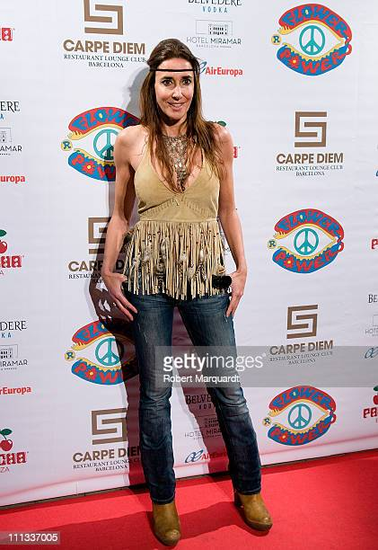 Elsa Anka attends the 'Flower Power Pacha Ibiza Party' at the Carpe Diem Barcelona Lounge on March 31 2011 in Barcelona Spain