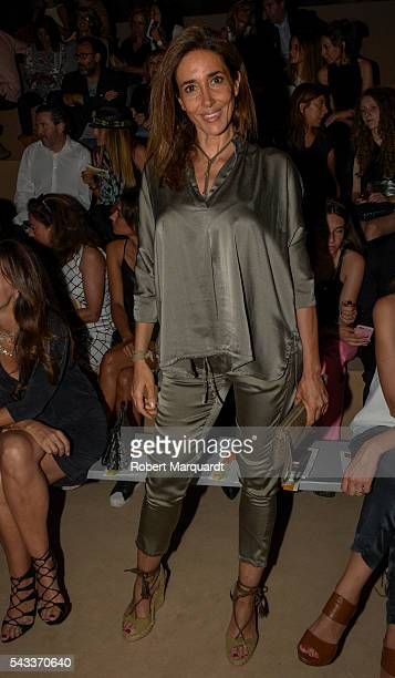 Elsa Anka attends the front row of TCN show during the Barcelona 080 Fashion Week Spring/Summer 2017 at the INFEC on June 27 2016 in Barcelona Spain