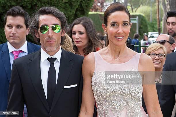 Elsa Anka attends the wedding ceremony of Sara Verdasco and Juan Carmona on June 10 2016 in Madrid Spain