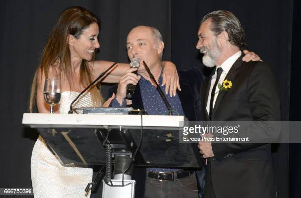 Elsa Anka Jose Manuel Soto and Antonio Banderas attend Gala Dinner of Lagrimas and Favores Foundation during Holy Week celebration on April 7 2017 in...