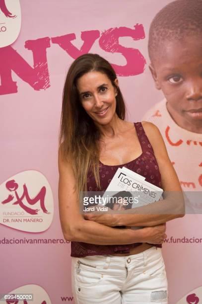 Elsa Anka posses during a photocall for 'Los Crimenes de la Belleza' charity book presentation at Llibreria Bernat on June 21 2017 in Barcelona Spain