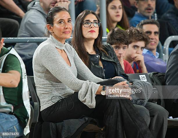 Elsa Anka TV presentator and Lidia Torrent actrees attends the 2016/2017 Turkish Airlines EuroLeague Regular Season Round 14 game between FC...
