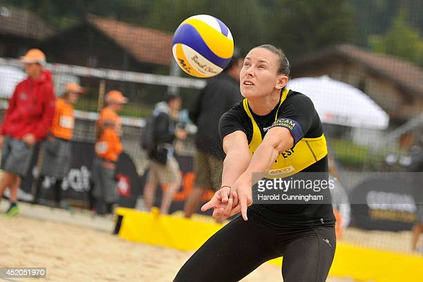 Elsa Baquerizo McMillan of Spain in action during the women main draw match LilianaBaquerizo v KolocovaSlukova as part of the fourth day of the FIVB...